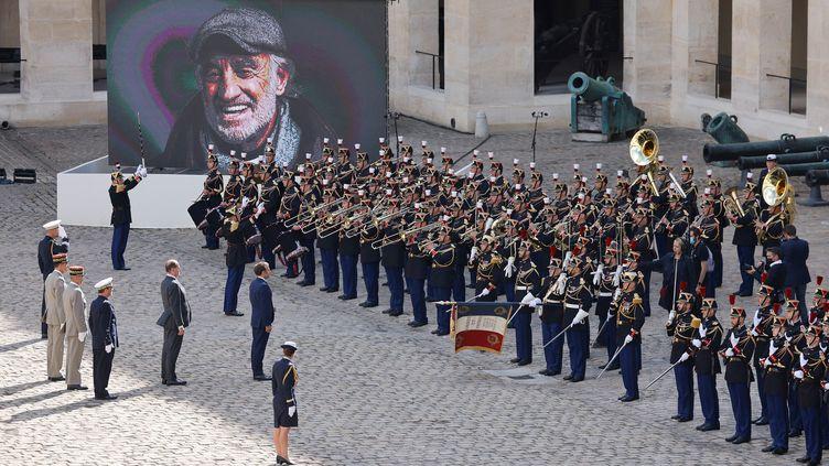 L'hommage national à Jean-Paul Belmondo, aux Invalides le 9 septembre 2021 (LUDOVIC MARIN / AFP)