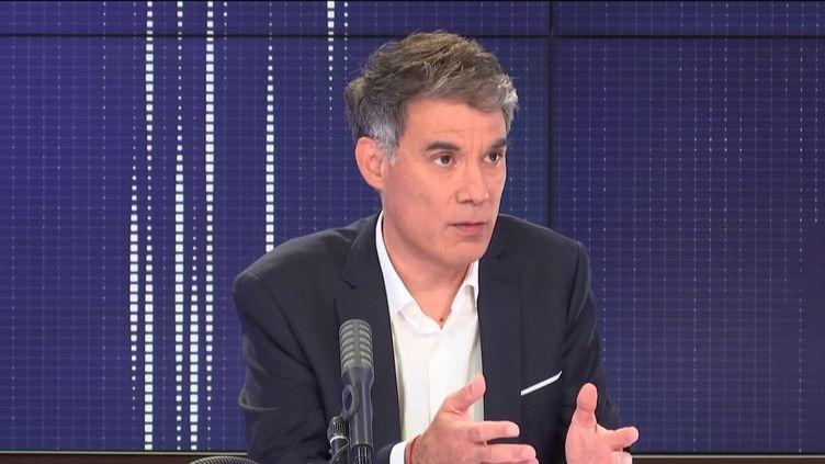 Olivier Faure, premier secrétaire du Parti socialiste, était l'invité de franceinfo mercredi 3 juin 2020. (FRANCEINFO / RADIO FRANCE)