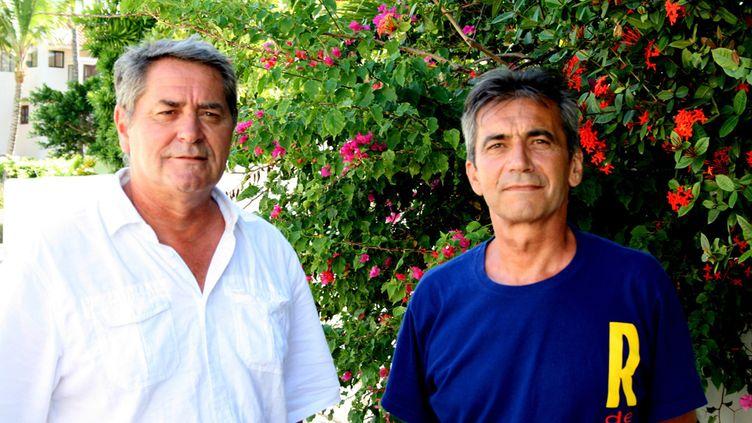 """(Pascal Fauret et Bruno Odos, les deux pilotes """"exfiltrés"""" en octobre dernier © MaxPPP)"""
