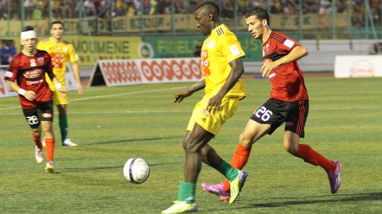 (L'attaquant Ebossé lors du match en Algérie, le 23 août © MAXPPP)
