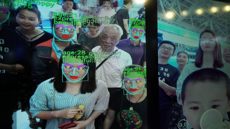 La reconnaissance faciale testée à Fuzhou (Chine). Photo d'illustration. (LIU TAO / MAXPPP)