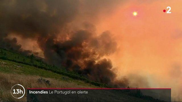 Portugal : important incendie dans le centre du pays