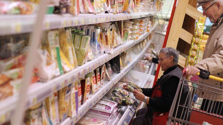 Dans un supermarché de Hérouville-Saint-Clair (Calvados), le 26 février 2013. (CHARLY TRIBALLEAU / AFP)