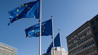 Le siège de la Commission européenne à Bruxelles (Belgique), le 14 avril 2021. (MARTIN BERTRAND / HANS LUCAS / AFP)