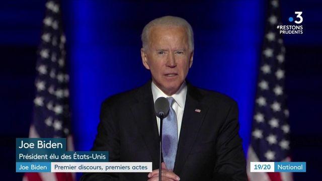 Présidentielle américaine : Joe Biden veut rassembler les Américains