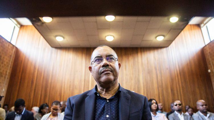 Manuel Chang, ancien ministre des Finances du Mozambique, comparaissait en janvier 2019 devant les magistrats sud-africains de Kempton Court pour être fixé sur son extradition. (WIKUS DE WET / AFP)