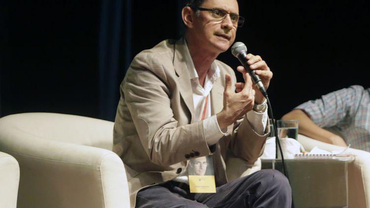 L'écrivain colombien Pablo Montoya, lauréat du prix littéraire Romulo-Gallegos en 2015, lors d'un festival de littérature à Managua, au Nicaragua le 22 mao 2017. (INTI OCON / AFP)