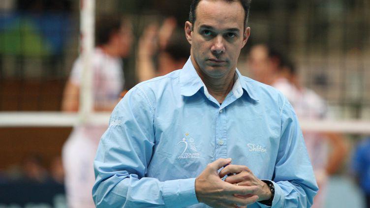 Mauricio Paes, l'entraîneur de Tours (PIERRE TEYSSOT / MAXPPP)