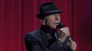 Leonard Cohen le 12 septembre 2013 à londres  (Saisie écran)