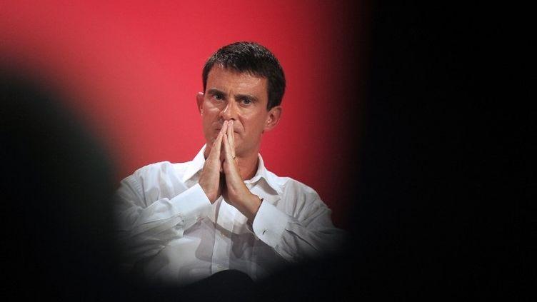 Manuel Valls, à l'université d'été du PS, à La Rochelle (Charente-Maritime), le 31 août 2014. (XAVIER LEOTY / AFP)