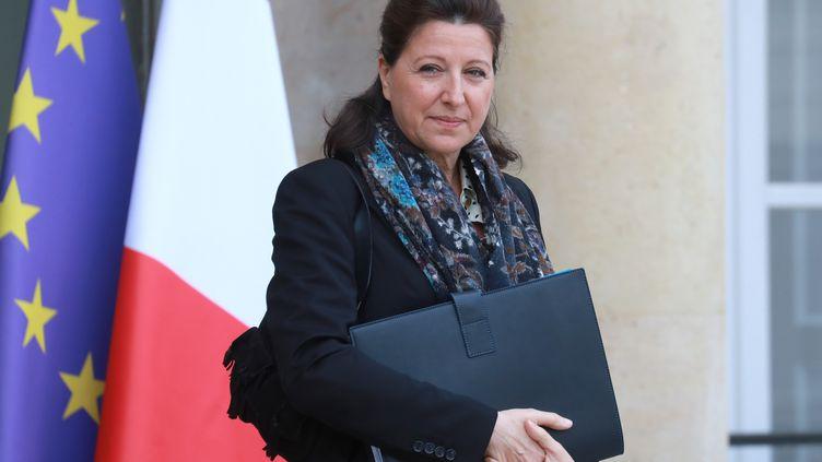 La ministre de la Santé, Agnès Buzyn, quitte le palais de l'Elysée, à Paris, le 29 janvier 2020. (LUDOVIC MARIN / AFP)