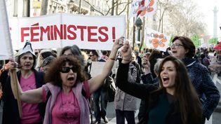 Manifestation pour la journée internationale des droits des femmes, à Paris, le 8 mars 2014. (VINCENT ISORE / MAXPPP)