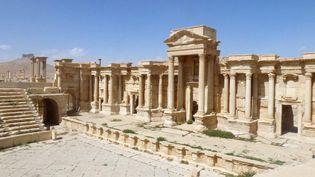 """Même si les dégâts sont importants, le chef des Antiquités syriennes Mamoun Abdelkarim s'est voulu rassurant. Il a affirmé à l'AFP que """"le paysage général est en bon état"""" et que Palmyre """"redeviendra comme avant"""". (MAHER AL MOUNES / AFP)"""