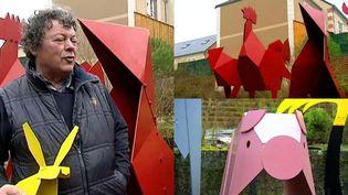Remou, le sculpteur autodidacte créé des oeuvres de métal inspirées de l'origami  (France 3 / Culturebox)