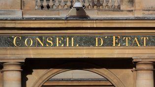 La façade du Conseil d'Etat à Paris, le 20 octobre 2021. (MANUEL COHEN / MANUEL COHEN / AFP)