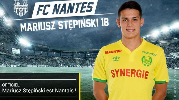 Mariusz Stepinski, nouvel attaquant du FC Nantes.