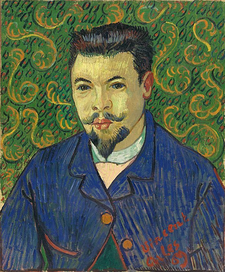 """Le """"Portrait du docteur Rey"""" (détail), réalisé en 1889 par Vincent Van Gogh à Arles,est exposé au musée Van Gogh d'Amsterdam jusqu'au 25 septembre 2016. (MUSEE POUCHKINE DE MOSCOU)"""