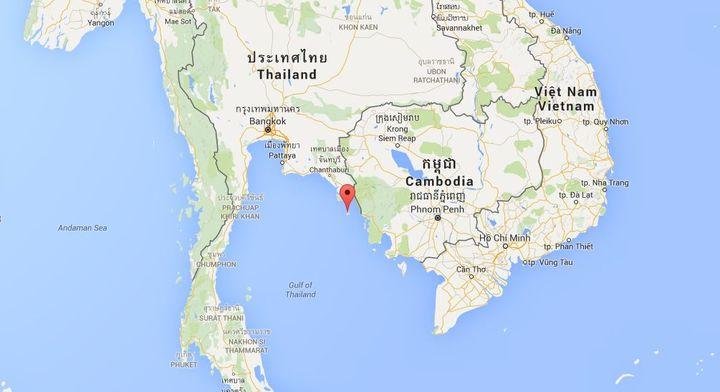 L'agression des quatre touristes français, le 27 février 2016, s'est produite sur l'île deKoh Kut, au large de la Thaïlande, et non loin de la frontière avec le Cambodge. (GOOGLE MAPS)