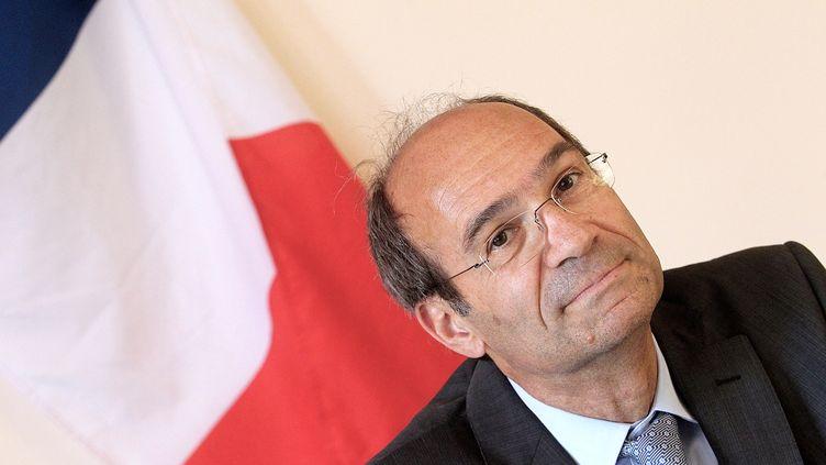 Eric Woerth en campagne pour les élections législatives, le 23 mai 2012 àAcy-en-Multien (Oise). (FRANCOIS NASCIMBENI / AFP)