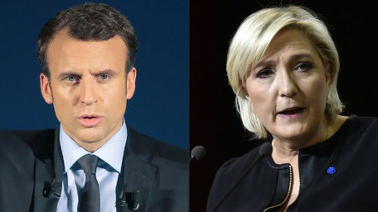 Si Emmanuel Macron et Marine Le Pen ont pour point commun de vouloir sortir la France du chômage de masse, les convergences de programmes sur le thème de l'emploi s'arrêtent ici. (PASCAL POCHARD-CASABIANCA / AFP)