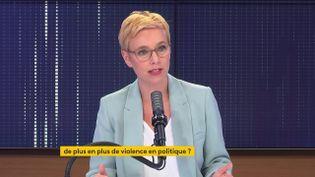 Clémentine Autain, députée La France insoumise de Seine-Saint-Denis, était l'invitée de franceinfo jeudi 10 juin 2021. (FRANCEINFO / RADIO FRANCE)