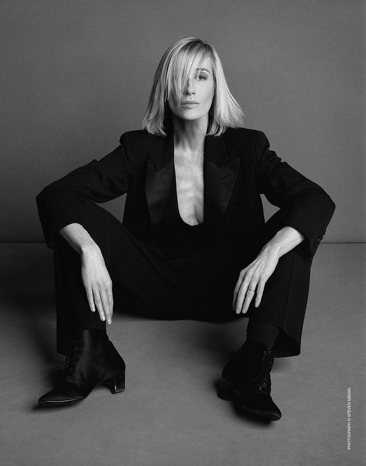 """La muse Betty Catroux pour l'exposition """"Betty Catroux Yves Saint Laurent Féminin Singulier""""au musée Yves Saint Laurent Paris. (STEVEN MEISEL)"""