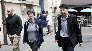 Brigitte Gothiere et Sebastien Arsac, militants de L214, sont jugés, le 4 septembre 2017, pour s'être introduits mi-décembre dans un abattoir àHoudan (Yvelines). (MAXPPP)