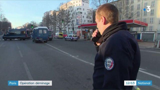 Paris : opération déminage porte de la Chappelle