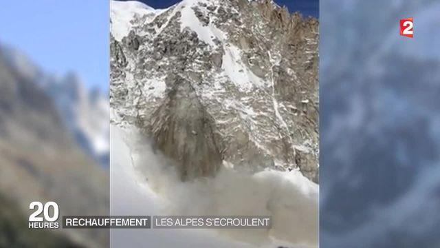 Réchauffement climatique : les Alpes s'effritent