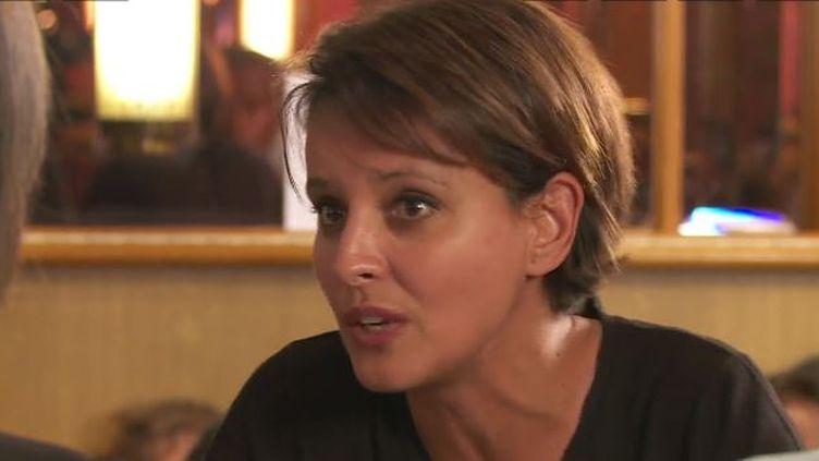 Capture d'écran montrant Najat Vallaud-Belkacem, ministre de l'Education nationale face aux journalistes duBondy Blog Café, octobre 2014 (BONDY BLOG CAFE)