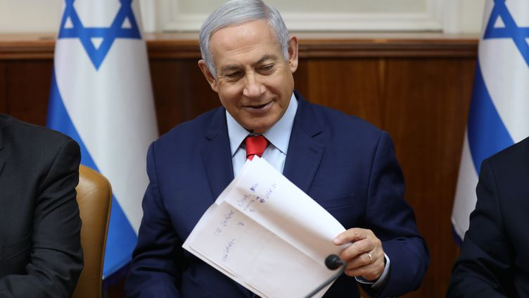 Le Premier ministre israélienBenyamin Nétanyahouà Jérusalem, le 12 mai 2019. (GALI TIBBON / POOL)