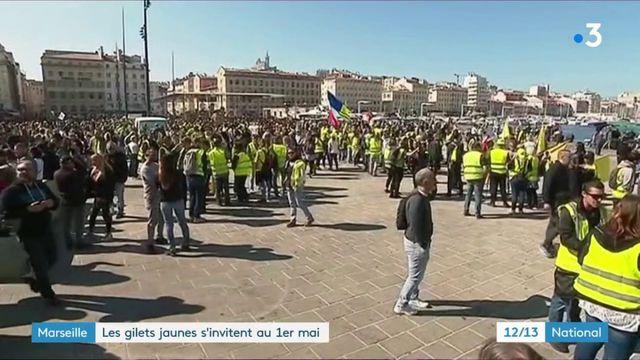 """Marseille : les """"gilets jaunes"""" s'invitent au 1er mai"""
