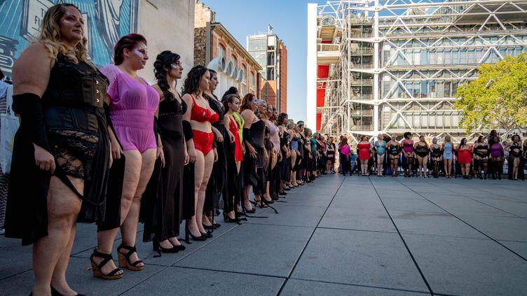Défilé Body Positive, organisé par Georgia Stein, à Paris en septembre 2019 (HARRYS BIBILA)