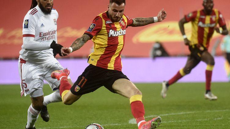 Jonathan Clauss, buteur lors du match face à Lyon lors de la 31e journée de Ligue 1. (FRANCOIS LO PRESTI / AFP)