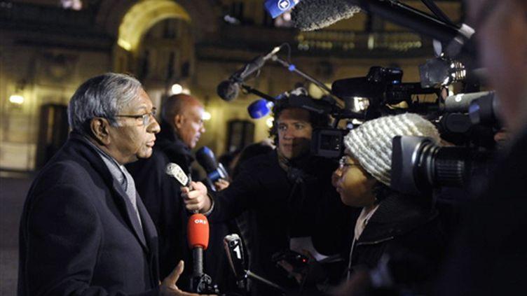 Le sénateur de la Réunion, Jean-Paul Virapoullé (UMP), chef de file du mouvement La Relève, à Paris, le 19 février 2009 (AFP Photos)