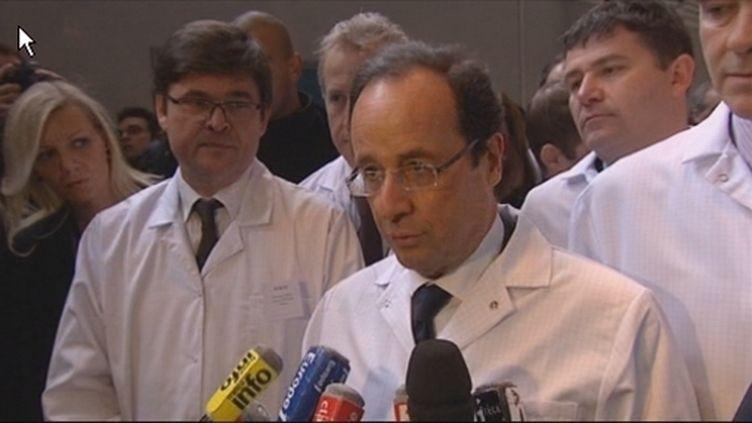 François Hollande visite l'usine Eolane (FranceTV)