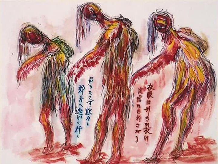 Dessin témoignant de ce qui s'est produit à Hiroshima  (France 3 / Culturebox / capture d'écran)