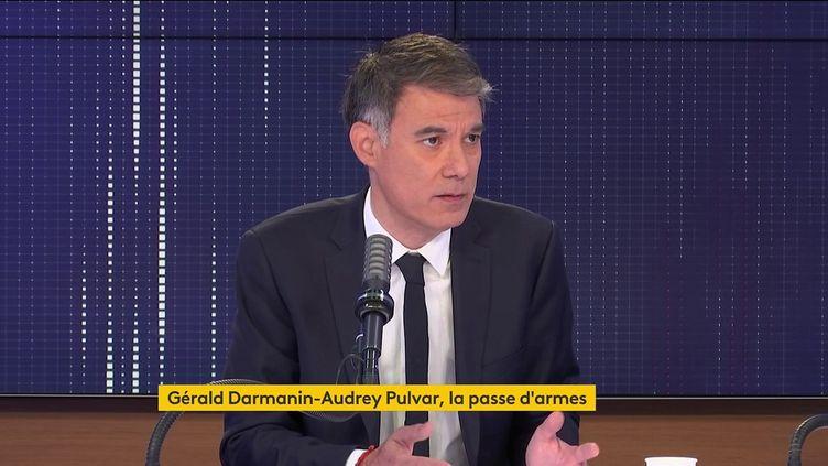 Olivier Faure, premier secrétaire du PS, était l'invité du 8h30 franceinfo le 25 mai 2021. (FRANCEINFO / RADIOFRANCE)