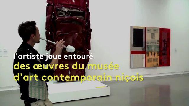 """""""Fils de flûte"""" au Mamac à Nice"""