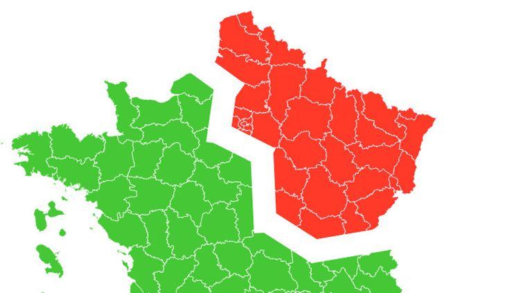 La carte de France sanitaire du 7 mai. (FRANCEINFO)