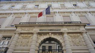 La façade de la Cour des comptes, rue Cambon, à Paris. (SERGE ATTAL / ONLY FRANCE / AFP)