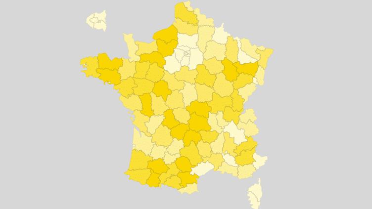 CARTE. Election présidentielle : découvrez la participation au second tour à 17 heures, département par département (FRANCEINFO)