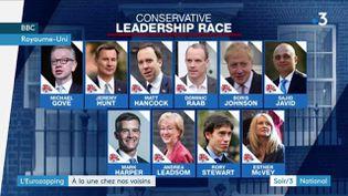 Les candidats conservateurs au poste de Premier ministre du Royaume-Uni (France 3)