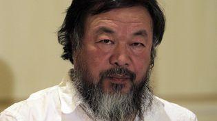 L'artiste dissident chinois Ai Weiwei le 1er janvier 2016 à Athènes.  (Orestis Panagiotou /EFE/Newscom/MaxPPP)