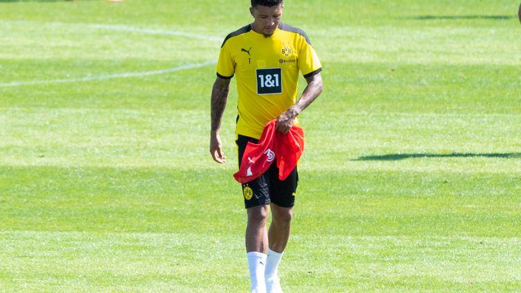 L'ailier anglais Jadon Sancho ne partira pas du Borussia Dortmund cet été. (ELMAR KREMSER/SVEN SIMON / SVEN SIMON)