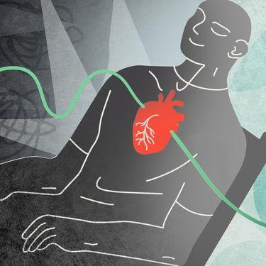 Pour surmontercestress, une nouvelle méthode venue des Etats-Unis fait son chemin depuis une dizained'années en France: la cohérence cardiaque. (JESSICA KOMGUEN / FRANCEINFO)