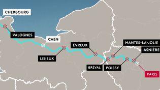 Les usagers de l'axe Paris-Caen-Cherbourg sont en colère. Une association de voyageurs tire le signal d'alarme après des retards jugés trop fréquents en 2019. Il n'y a pas d'amélioration depuis le début de l'année. (FRANCE 2)