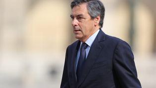 L'ancien Premier ministre François Fillon, lors des obsèques de Charles Pasqua aux Invalides, à Paris, le 3 juillet 2015. (MAXPPP)