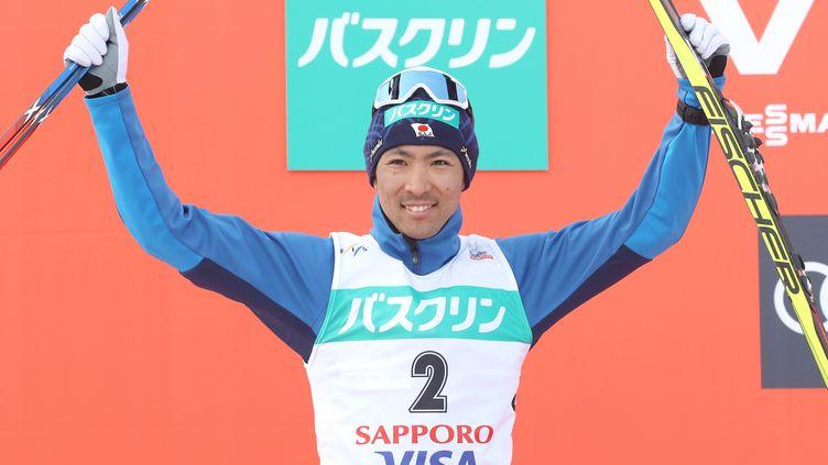 Le Japonais Aikito Watabe, le 10 février 2017, lors du combiné nordique de Sapporo. (TETSU JOKO / YOMIURI)