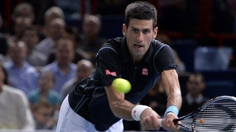 Le Serbe Novak Djokovic en défense